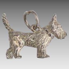 Vintage Sterling West Highland Terrier Charm
