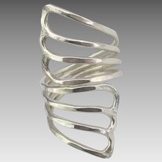 Gorgeous Wide Sterling Wrap Ring