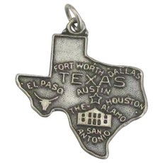 Vintage Sterling Texas State Charm