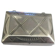 Vintage Navajo Sterling Box