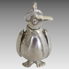 Rare Sterling Articulated Penguin Charm