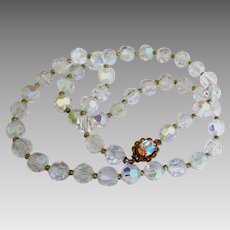 Sparkling Vintage AB Necklace with Fancy Clasp