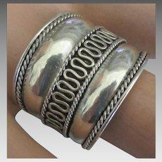 Vintage Wide Sterling Band Ring- Size 10