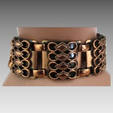 Rich Vintage Ornate Copper Link Bracelet