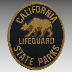 Vintage California Life Guard Fabric Patch