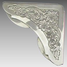 Vintage Chased Sterling Page Corner Bookmark