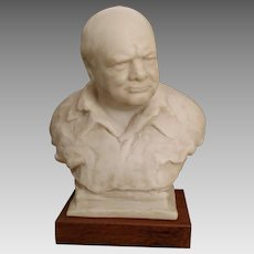 Vintage 1964 Oscar Nemon Winston Churchill Bust- Alva Museum Replicas of New York