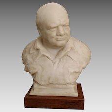 Vintage 1964 Oscar Nemon Winston Churchill Bust- Alva Museum Replicas of New York