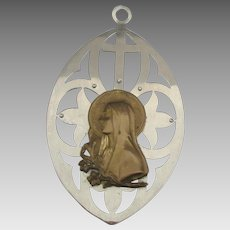Vintage Blessed Virgin Mary with Lilies Wall Plaque