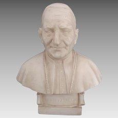 Vintage Pope Saint John XXIII Italian Statue Bust