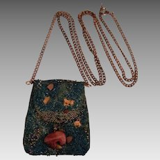 Vintage NA Navajo Leather Medicine Bag Pendant