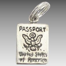 Vintage Sterling United States Passport Charm