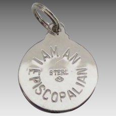 Vintage Sterling Episcopalian Charm