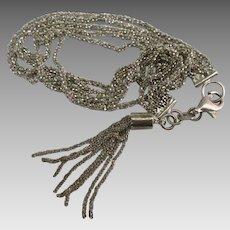 Vintage Italian Multiple Chain Tassel Bracelet