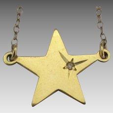 Vintage Danecraft Star Diamond Chip Necklace