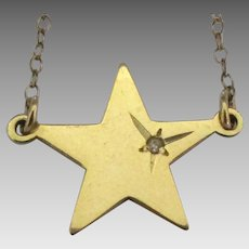 Vintage Danecraft Star Diamond Chip Necklace