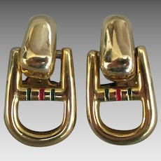 Paolo Gucci Gold Tone Door Knocker Earrings