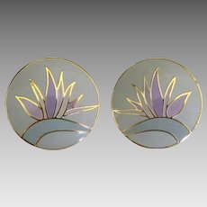 """Bird of Paradise"" Laurel Burch Pierced Earrings"