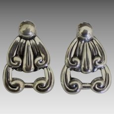 Lovely Vintage Taxco Sterling Pierced Earrings