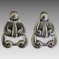 Lovely Vintage Taxco Sterling Pierced Earrings