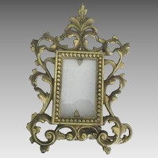 Ornate Brass Free Standing Picture Frame