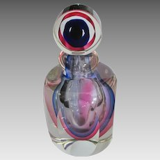 Large Italian Murano Art Glass Perfume Bottle