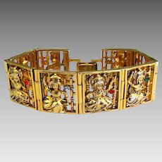 JBK Jacqueline Kennedy Balinese Dancers Bracelet by Camrose and Kross