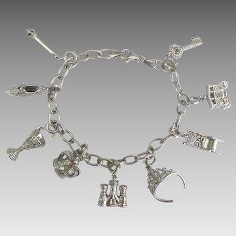 Sterling Theme Royalty Princess Queen Charm Bracelet