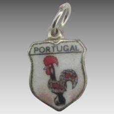 Enamel Portugal Travel Shield Charm