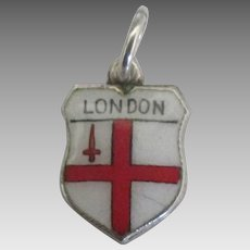 Vintage London England 800 Travel Shield Charm