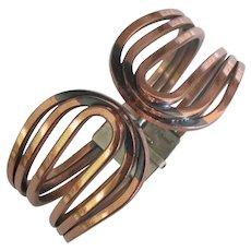 Vintage Modernist Renoir Copper Clamper Bracelet