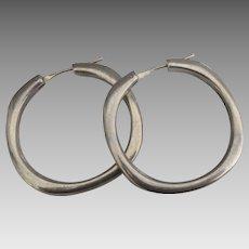 Tiffany & Co Sterling Square Hoop Pierced Earrings