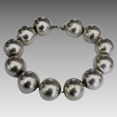 Huge 16 mm Sterling Bead Bracelet