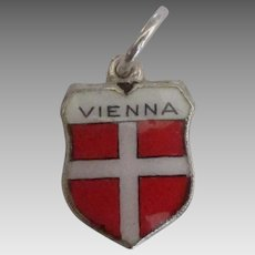 Enamel 835 Vienna Austria Travel Shield Charm