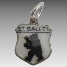 Enamel St. Gallen Switzerland 800 Travel Shield Charm