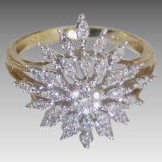 Beautiful 14K Diamond Ring-Size 6 3/4