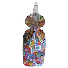 Italian Murano Millefiore Glass Perfume Bottle