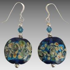Vintage Italian Murano Art Glass Pierced Earrings