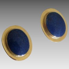 Beautiful 14K Lapis Lazuli Pierced Earrings