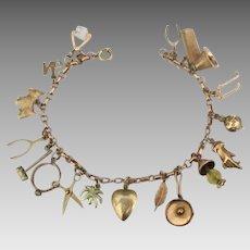 Loaded 10K YG Charm Bracelet- 13 Grams!