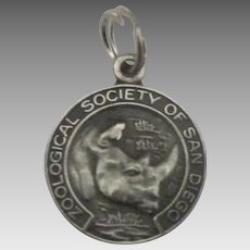 Vintage San Diego Zoological Society with Rhino Charm