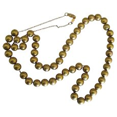 """Beautiful Estate 12K GF Bead 18"""" Necklace"""