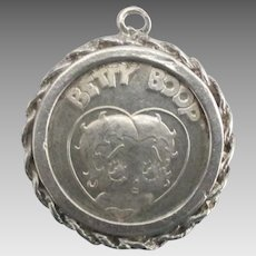 Vintage Sterling Betty Boop and Bimby Coin Pendant or Charm