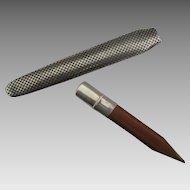 Vintage Sterling Cased Wooden Pencil