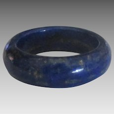 Lovely Lapis Band Ring- Size 6 1/4