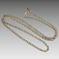 "Italian 14K Anchor Link 18"" Chain Necklace"