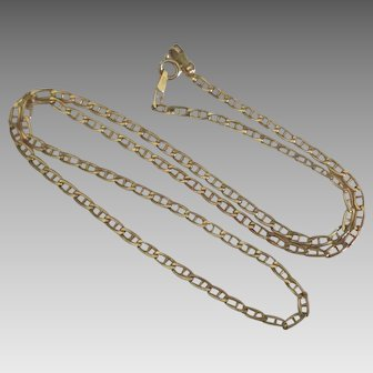 """Italian 14K Anchor Link 18"""" Chain Necklace"""