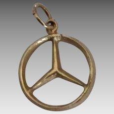 14K Mercedes Automobile Charm