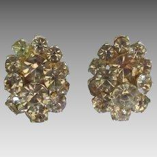 Beautiful Eisenberg Ice Faux Topaz Rhinestone Earrings