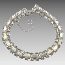 Sparkling Vintage Weiss Ice Rhinestone Bracelet